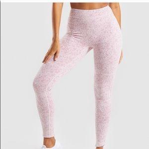 Gymshark fleur texture leggings - dusty pink marl